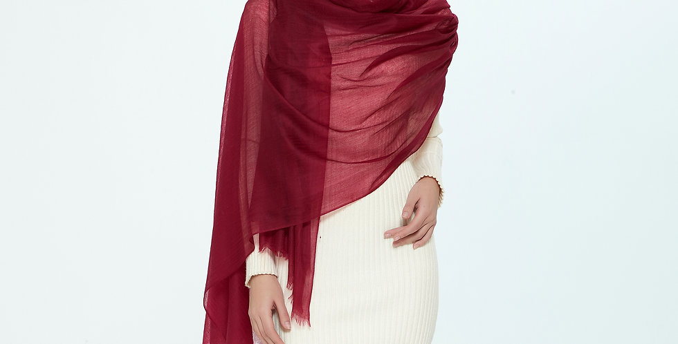 Luxurious Featherlight Cashmere Scarves / Shawls - Cherry
