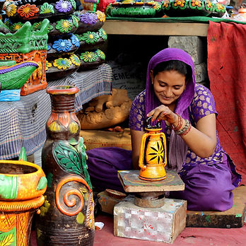 Fair Trade worker in India