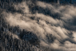 Clouds waves, chartreuse