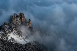 Les 3 pucelles, Vercors, Isère