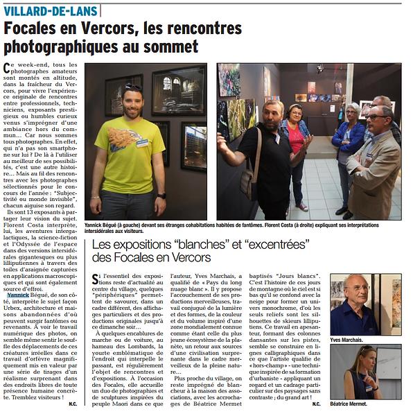 Focales en Vercors Yannick Bégué
