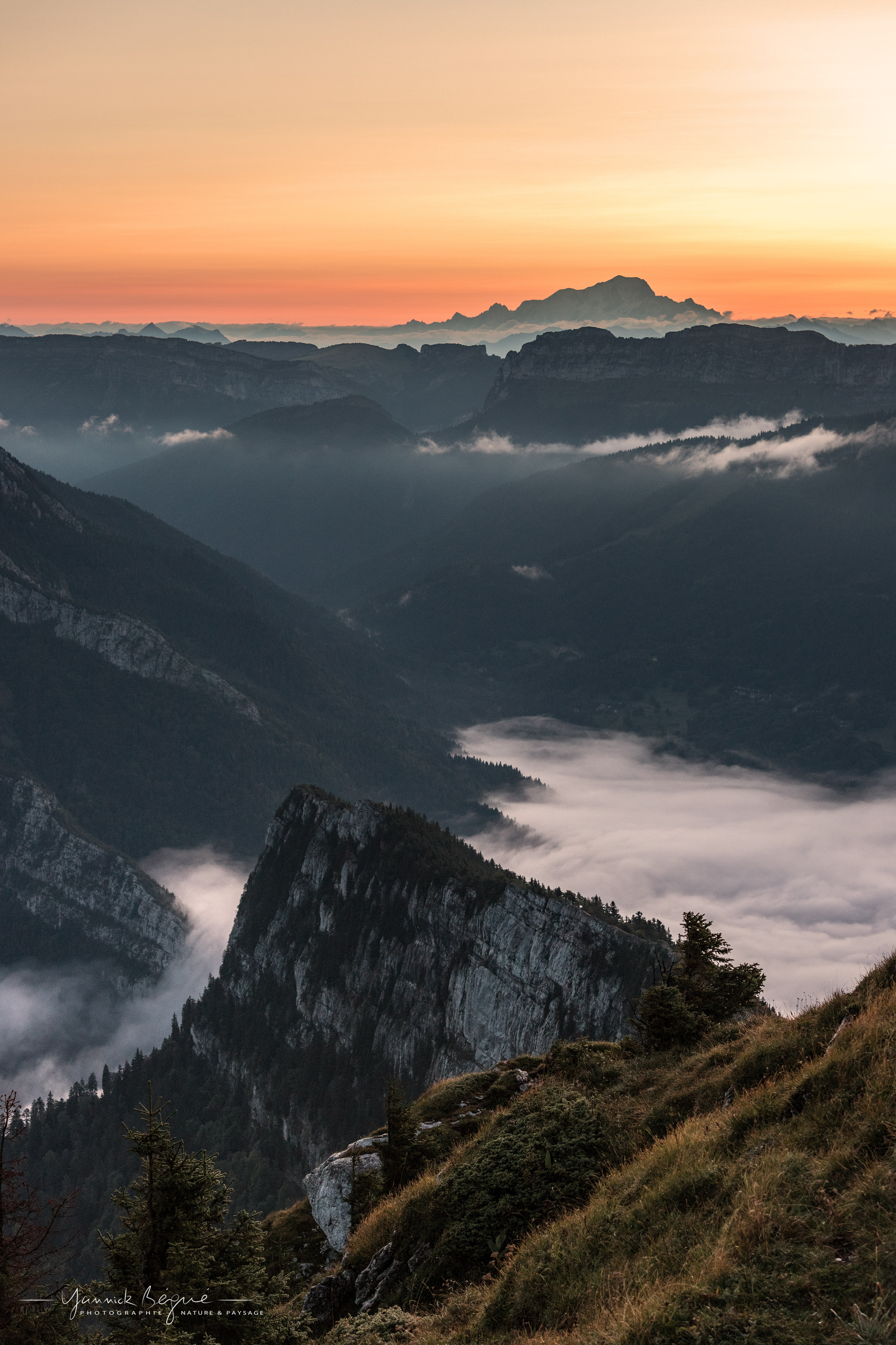 Mont Blanc depuis le Charmant Som