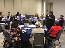 Guests interacting at tables Nov 21 2019
