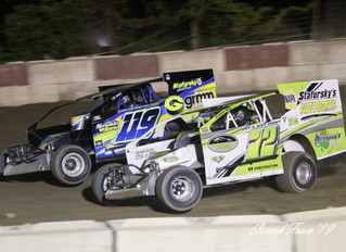 BRIAN MALCOLM PARKS IN VICTORY LANE AT PENN CAN SPEEDWAY