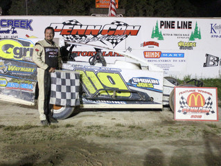 BRIAN MALCOLM BEST IN PENN CAN SPEEDWAY MODIFIED ACTION