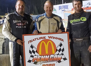 MIKE LONEY, BRIAN MALCOLM AND BRETT TONKIN WIN TRIPLE 20'S TONKIN DECLARED OVERALL WINNER AT PENN CA