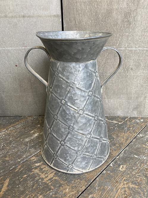 Diamond Metal Vase with handles 25cm