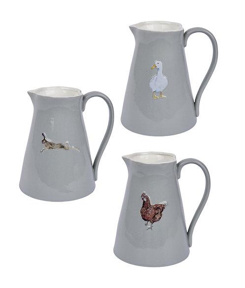 Stoneware Jug - 3 designs, £16.99 each