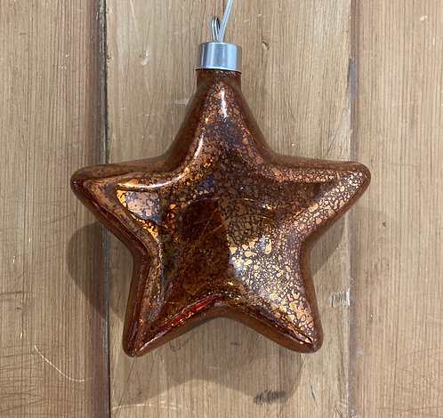 LED glass star in bronze