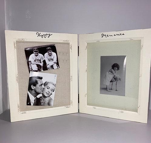 Cream Happy Memories Double Frame