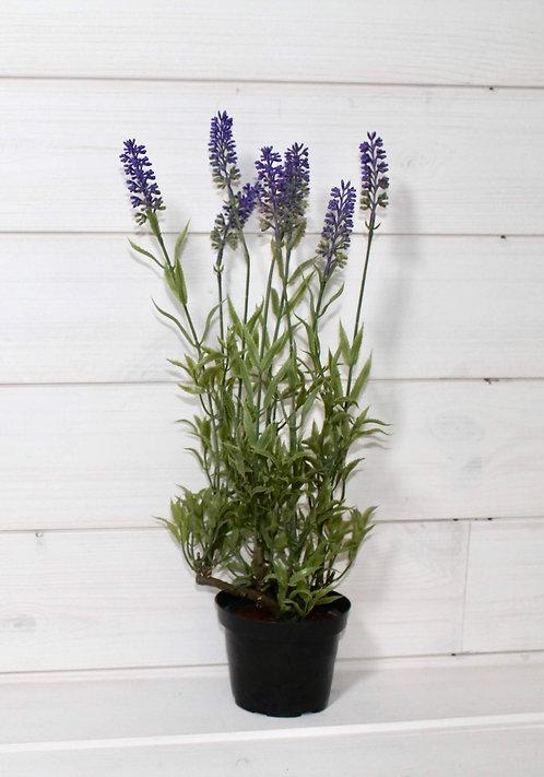 Lavender plant in pot, 43cm, artificial flowers