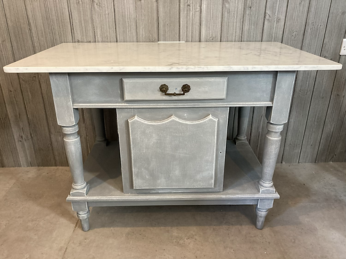 Vintage Wash Stand Kitchen /Bathroom table with granite top
