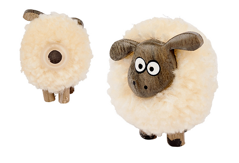 Small Pom Pom Sheep Magnet
