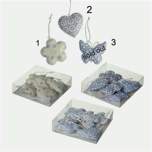 Blue/grey Metal Hanging  - 3 designs