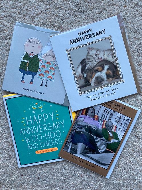 Anniversary cards (prices vary)
