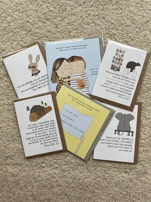 Encouragement / support /tough times cards (prices vary)