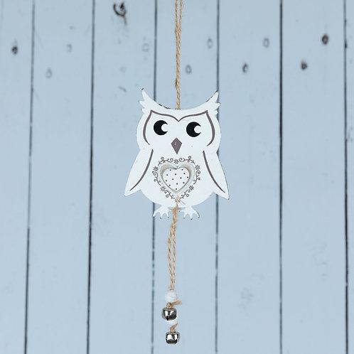 Wooden hanging angel, owl, heart or bird