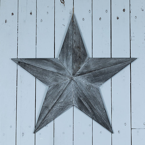 Wooden star, 49 or 59cm, whitewashed or grey