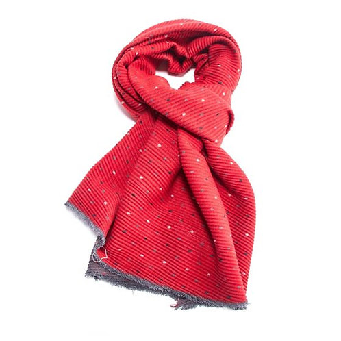 Double sided Pleated scarf with Tiny Dots