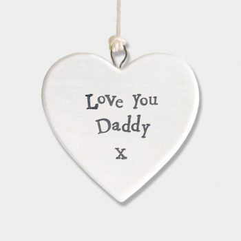 'Love you daddy' hanging heart