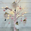 Thumbnail: Pink glass heart confetti hanging decorations aprox 4x4cm Buy 3 get 4th free