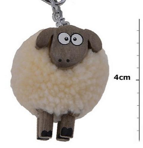 Pom Pom Sheep Keyring