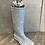 Thumbnail: Blue spotty Welly Boot flower pot / planter