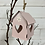 Thumbnail: Pink Metal Birdhouse with heart detail and bell, 10cm