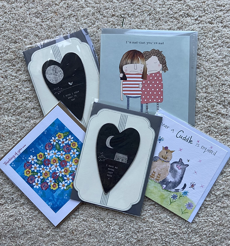Thinking of you / comfort cards (prices vary)