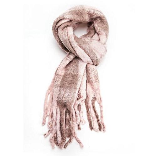 Pink& Beige warm scarf
