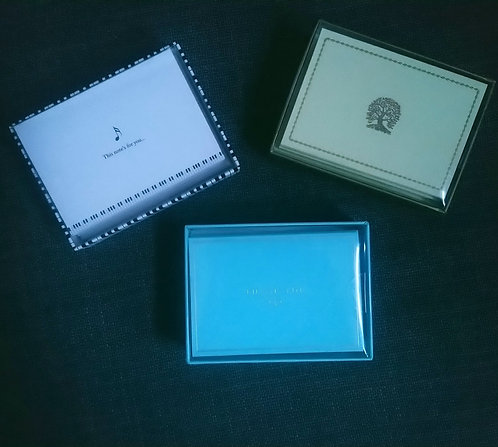 Box of 14 Embossed Note Cards