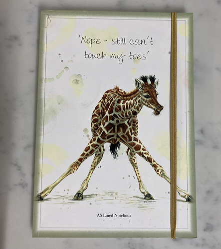 Giraffe lined A5 notebook Endangered collection