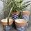 Thumbnail: Blue & terracotta pot 14 x 12.5cm tall