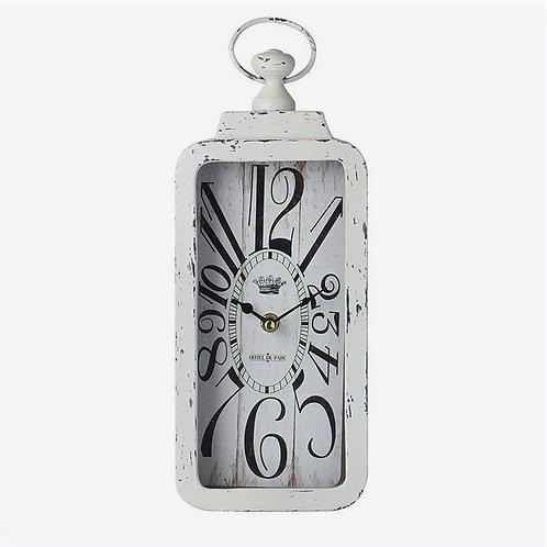 Rectangular White Clock