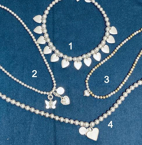 Costume jewellery- short beaded necklaces