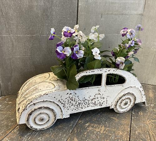 Metal car planter pot 38x15cm