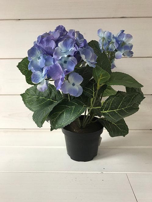 Hydrangea in pot 30cm, silk flowers