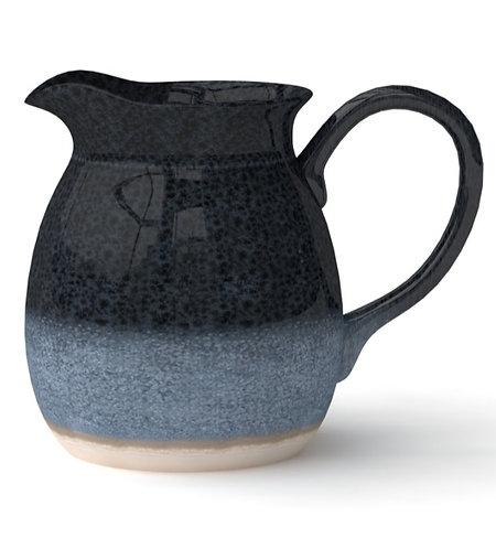 Blue Glazed Ceramic Jug