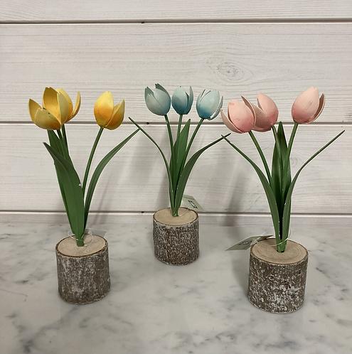 Metal Tulip 16.5x8cm in 3 colours