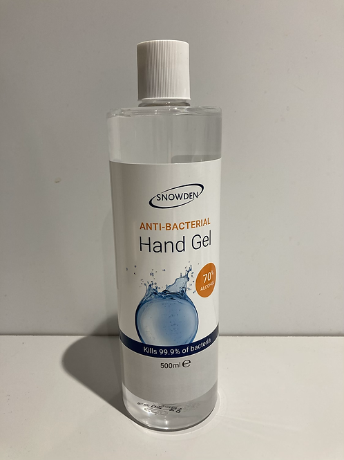 Anti-Bacterial Hang gel 500ml 70% alcohol, all profit to charity