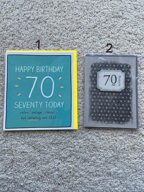 70 birthday cards (price vary)