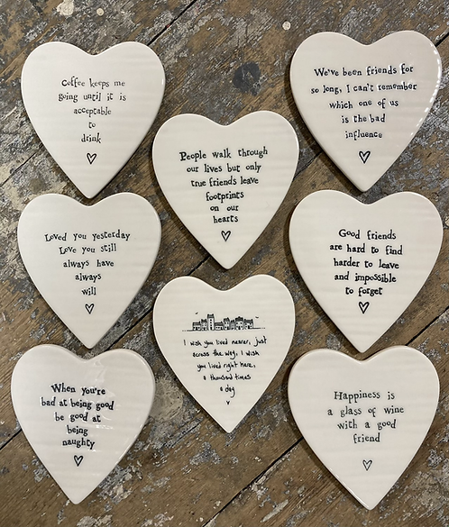Porcelain Heart Coaster