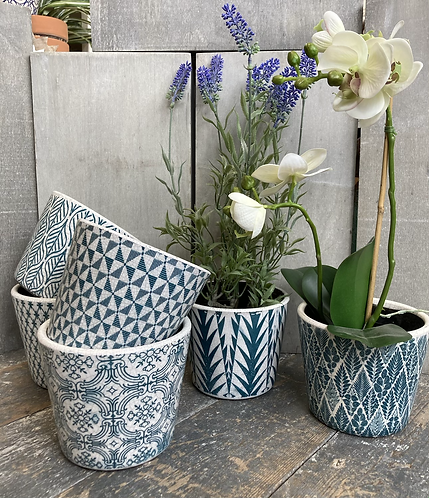 Old Style Dutch pots - teal green