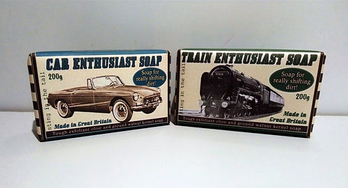Soap for car or train enthusiasts £5.99 each