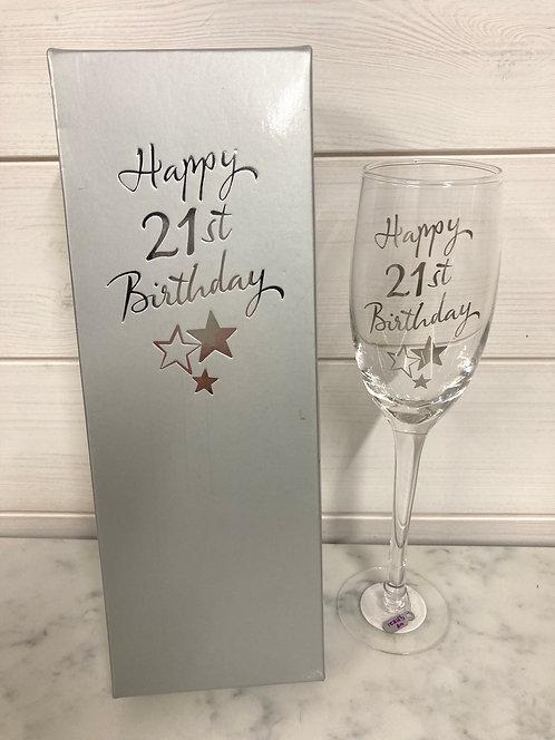 Champagne Flute Glass 21st