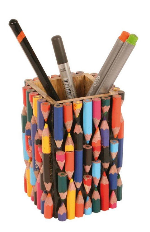 Pen/pencil pot made from recycled crayons Fair Trade