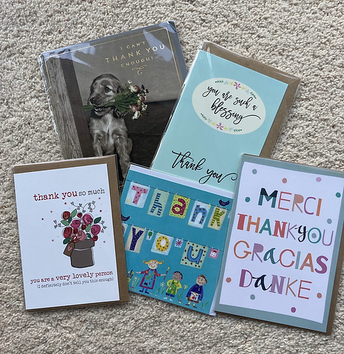 Thank you cards (prices vary)