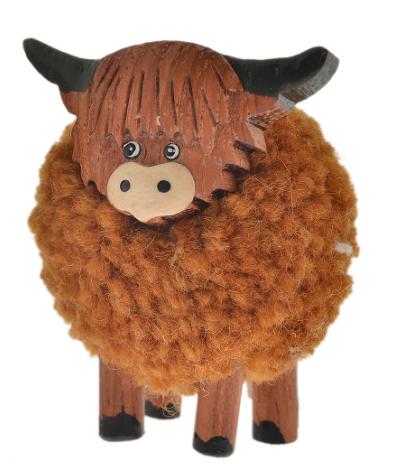Small Pom Pom Highland Cow