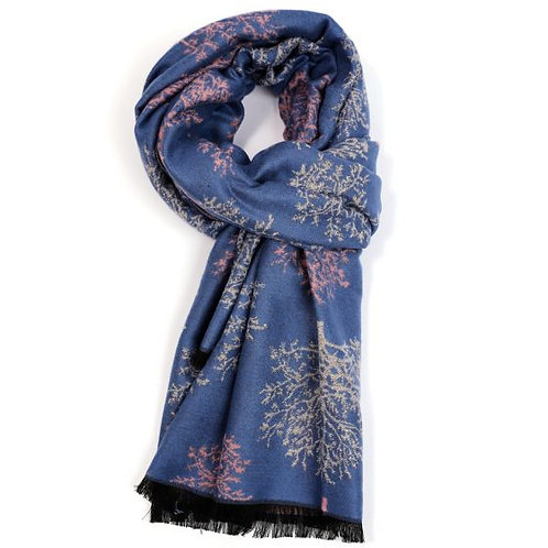 Terry trees warm double sided scarf