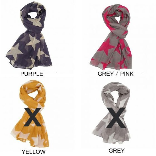 Large Star Print Scarf (2 colours available)